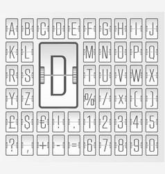 Light steampunk terminal mechanical scoreboard vector