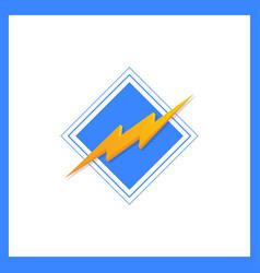 lightning bolt minimal simple symbol creative vector image