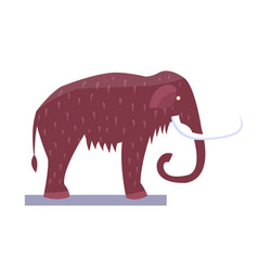 Mammoth museum item object vector