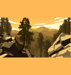 mountain forest landscape vector image