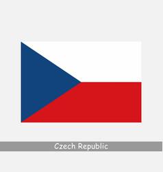 national flag czech republic czechia country vector image