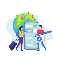 online booking ticket concept vector image