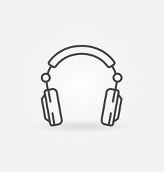 over-ear headphones outline concept icon vector image