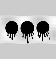 paint dripping current paint stains current vector image