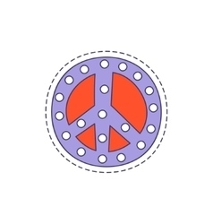 Peace Symbol Bright Hipster Sticker vector