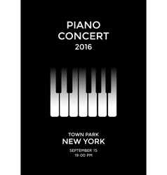 Piano concert poster vector