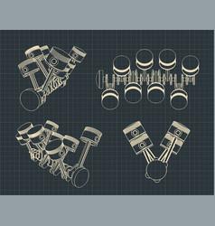 Piston crank mechanism vector