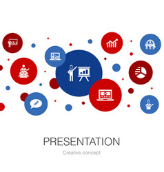 Presentation trendy circle template with simple vector