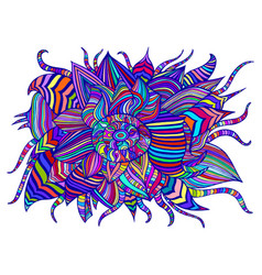 rainbow colorful decorative psychedelic flower vector image