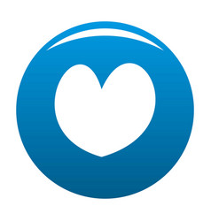 Reliable heart icon blue vector