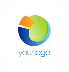 round letter i globe logo vector image