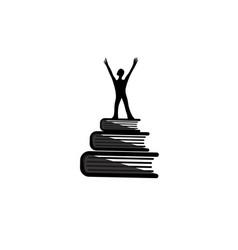 school logo book icon vector image
