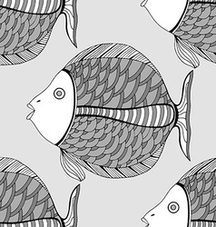 Seamless fish background vector image