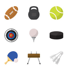 Set of 9 editable sport flat icons includes vector