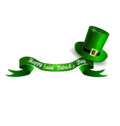 stpatrick s day banner with green hat vector image vector image