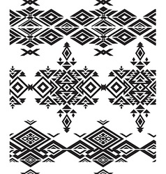 Tribal black and white seamless pattern vector