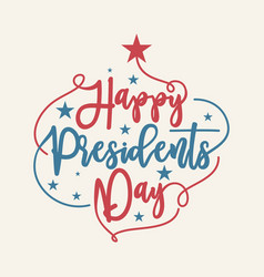 vintage letter happy presidents day with american vector image