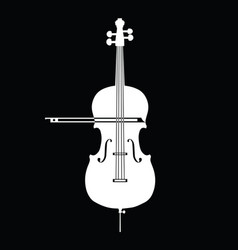 White contrabass collection on black background vector