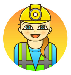 woman engineer vector image