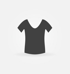 Womens t-shirt icon vector