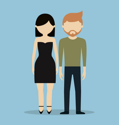 Young couple icon vector