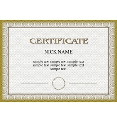 certificate diploma for print vector image