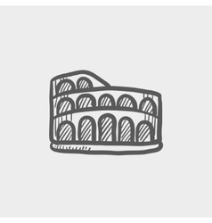 Coliseum sketch icon vector image