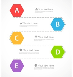 Infographic design with hexagons vector image vector image