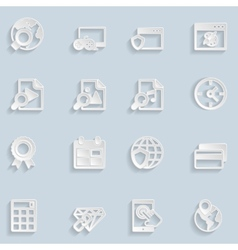 Paper Seo Icons Vol 3 vector image vector image