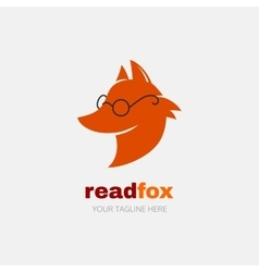 Reading fox logo vector image