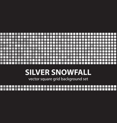 square pattern set silver snowfall seamless tile vector image