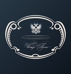 vintage frame with ornament vector image vector image