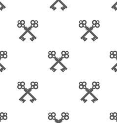 Vintage Key Silhouette Seamless Pattern vector image