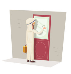 Arab customer oriented business concept vector