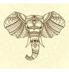 Greeting Beautiful card with indian patterned head vector image