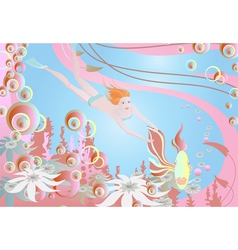 magical ocean vector image