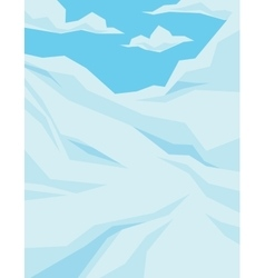 Winter scene with downhill slope blue sky and vector image vector image