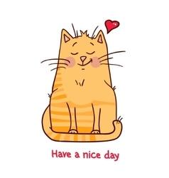cute red kitten 5 vector image vector image