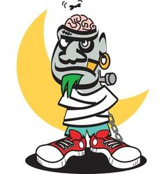 frankenstein brain vector image