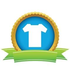 Gold tee shirt logo vector image