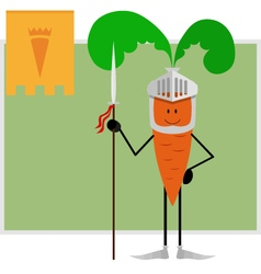 Knight carrots guard healthy eating and health vector image vector image