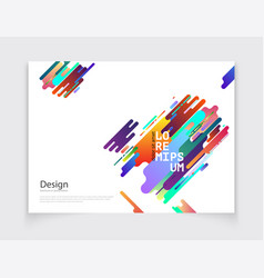 minimalistic cover or brochure design vector image