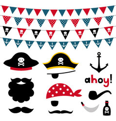 Pirate design element vector image