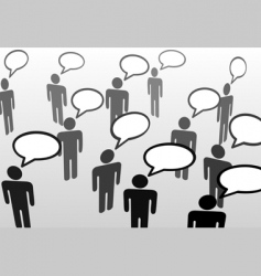 speech bubble communicatio vector image