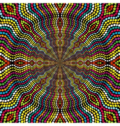 Sunburst made of colored dots vector image