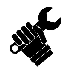 Tool in hand technical service vector image