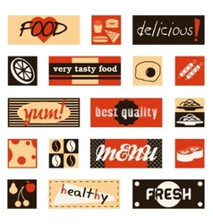 vintage food pictures and titles vector image