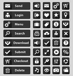 web design buttons set black vector image vector image
