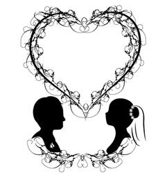 wedding silhouette vector image