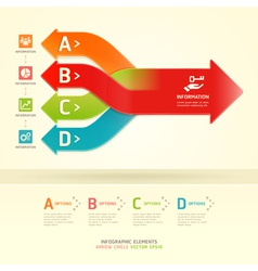 Colorful modern arrow circle number options banner vector image